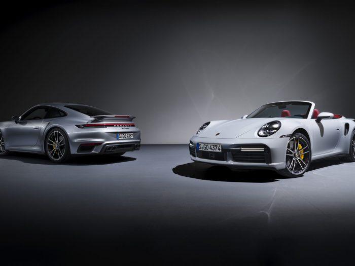 De Porsche 911 met karakteristieke Turbo-uitstraling